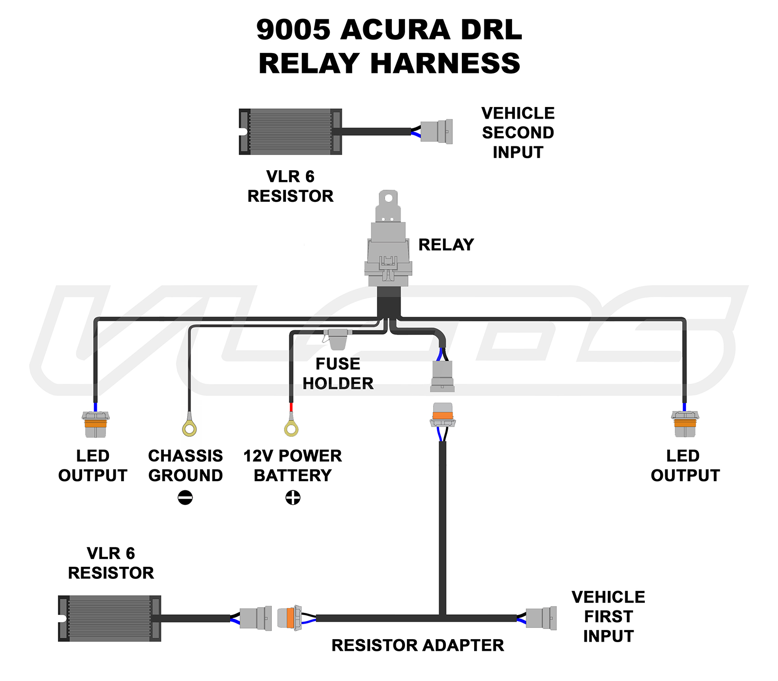 wiring diagrams rh vleds com Headlight Dimmer Switch Wiring Diagram HID Headlight Wiring Diagram