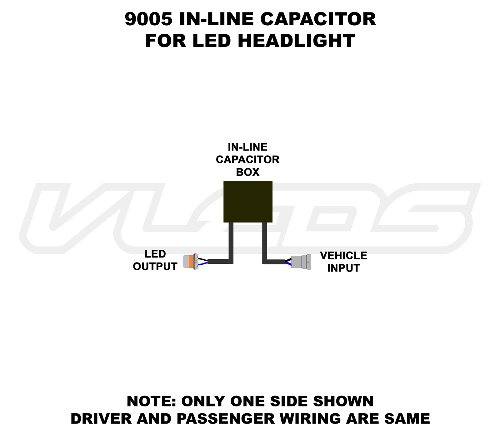 Wiring Diagrams Capacitor Led Circuit 9005 In Line