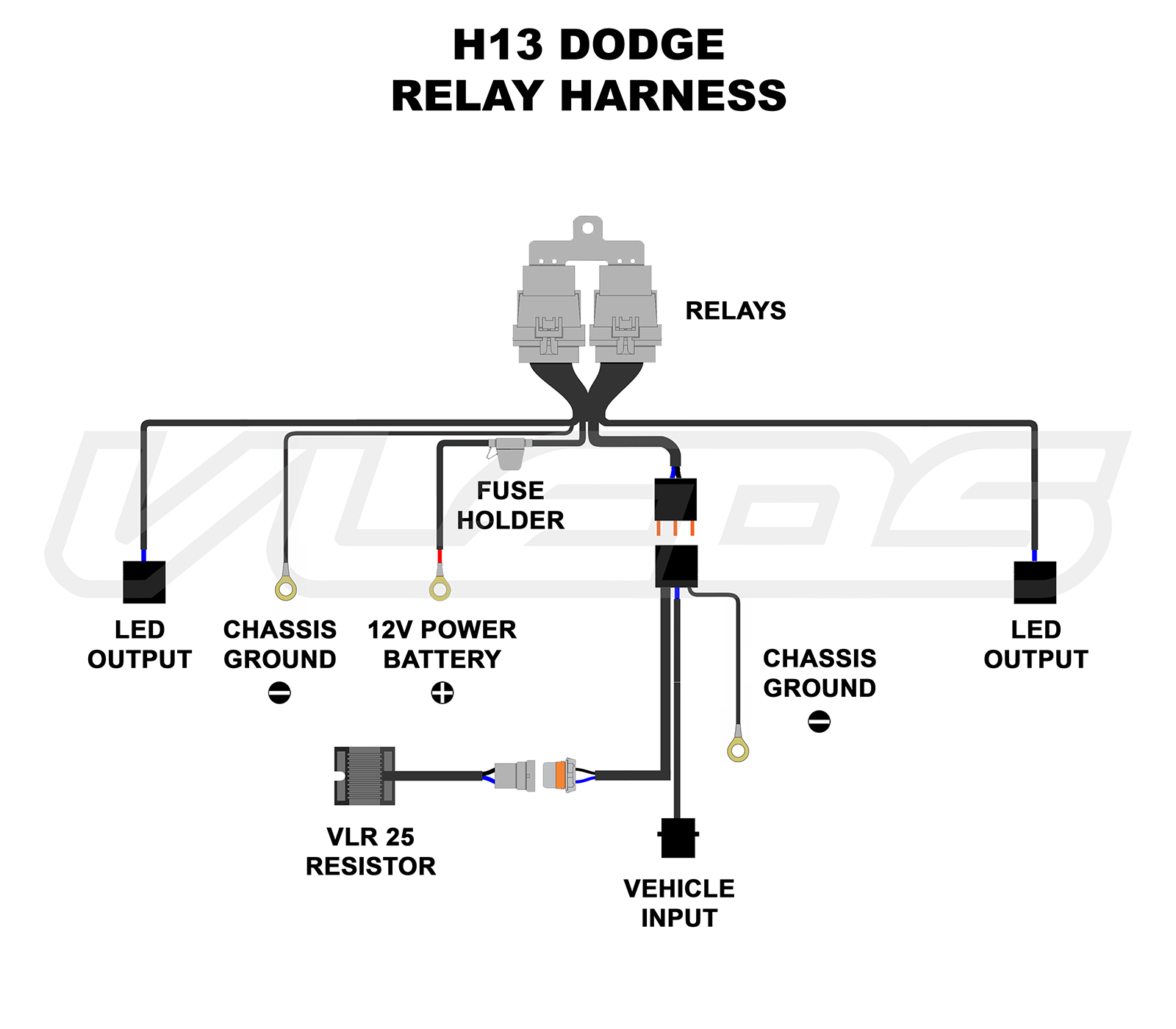 Wiring Diagrams Power Relay Harness H13 Dodge Jeep Chrysler