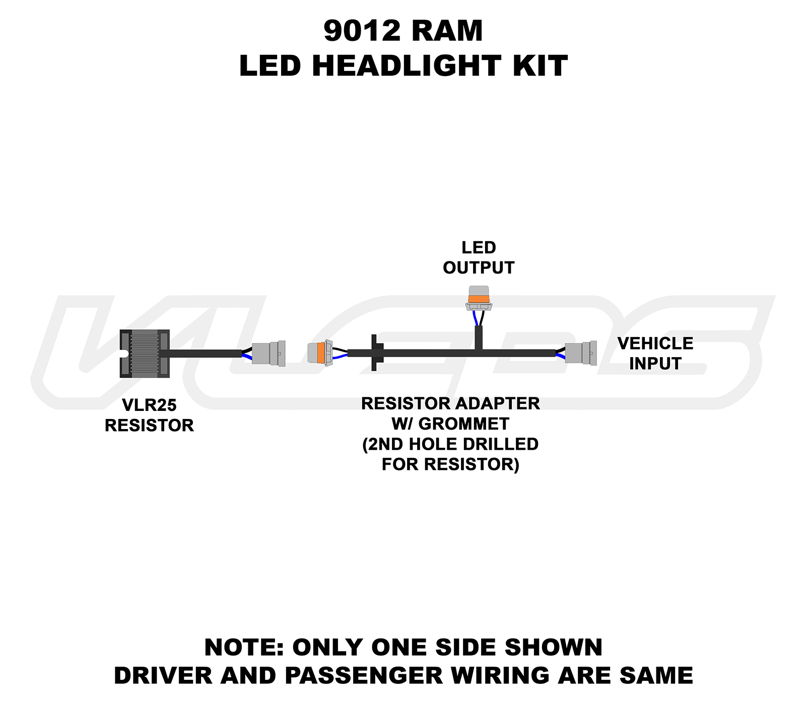 H13 Wiring Diagram Everything About High Low Relay Diagrams Rh Vleds Com Headlight Socket Xentec